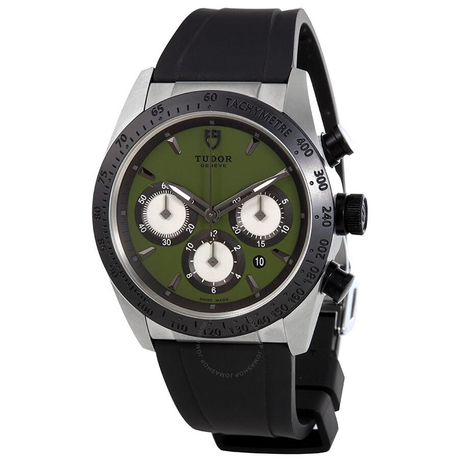 tudor fastrider chrono green dial black rubber men s watch 42010n tudor fastrider chrono green dial black rubber men s watch 42010n grrs