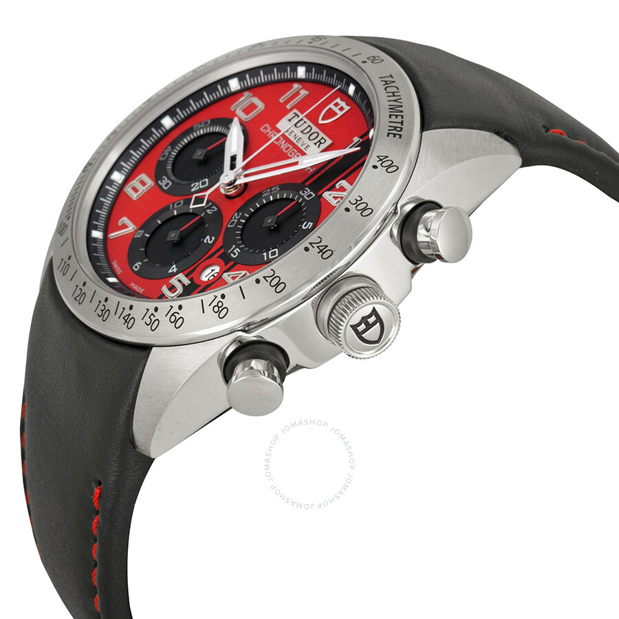 ... Tudor Fastrider Ducati Red Dial Chronograph Black Leather Men's Watch  42000D-DUC ... 5d48f1a26f3a