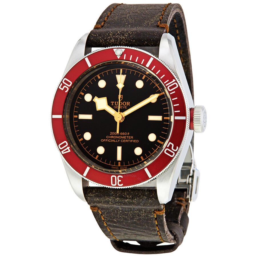 Tudor Heritage Black Bay Automatic Leather Men's Watch