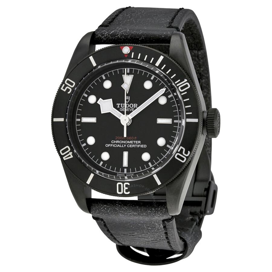 tudor heritage black bay dark automatic men 39 s watch 79230dk bkls heritage tudor watches. Black Bedroom Furniture Sets. Home Design Ideas