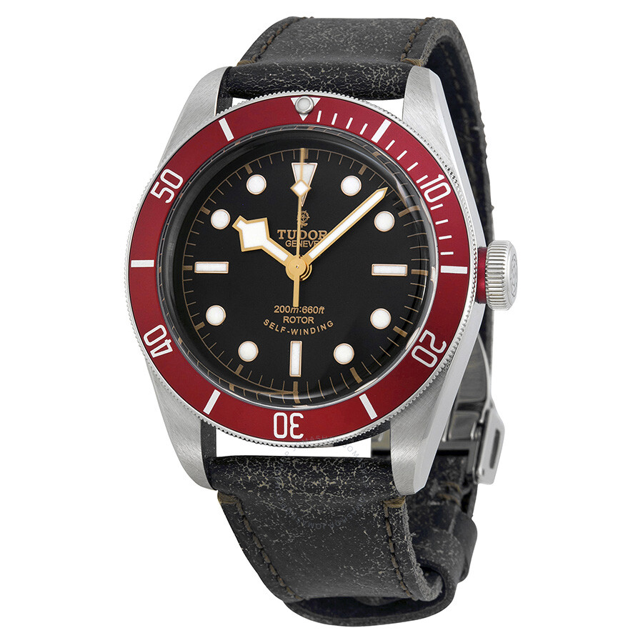 Leather Gmbh Contact Us Email Sales Mail: Tudor Heritage Black Bay Black Leather Men's Watch 79220R