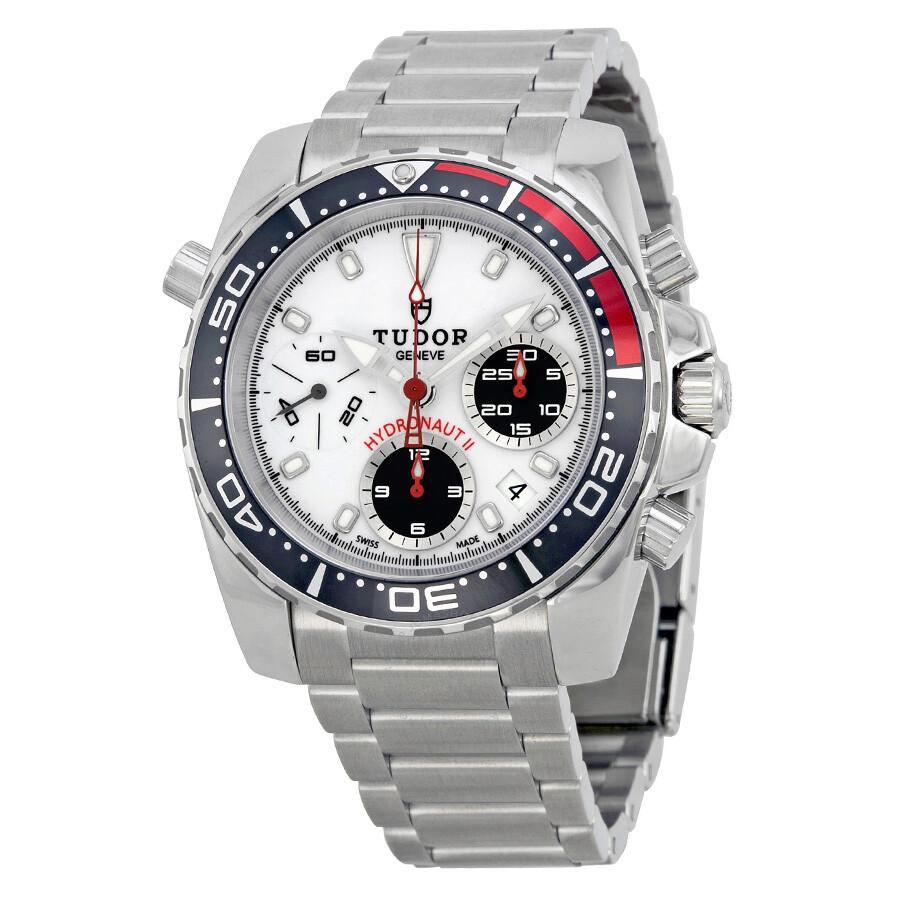 tudor hydronaut ii chronograph white stainless steel