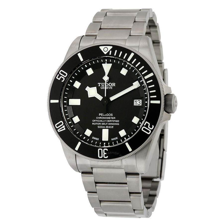 Tudor Pelagos Chronometer Black Dial Titanium Men's Watch