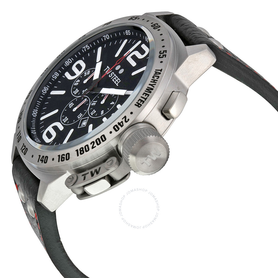 8f27df534d8 ... TW Steel Canteen 50mm Black Dial Chronograph Men s Watch TW11 ...