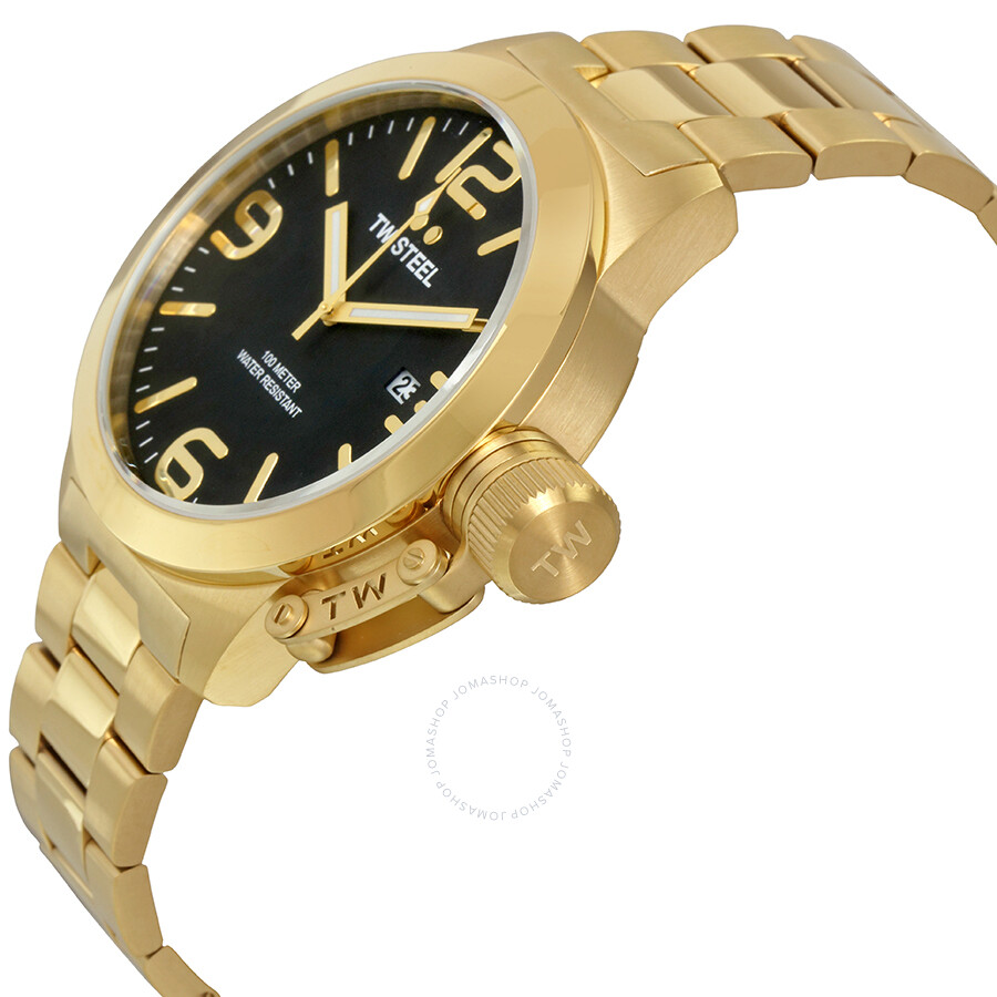 e485502cad5 TW Steel Canteen Black Dial Men s Gold Tone Watch CB92 - Canteen ...