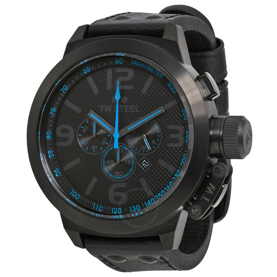 tw steel canteen cool black and blue chronograph 50mm men s watch tw steel canteen cool black and blue chronograph 50mm men s watch tw905