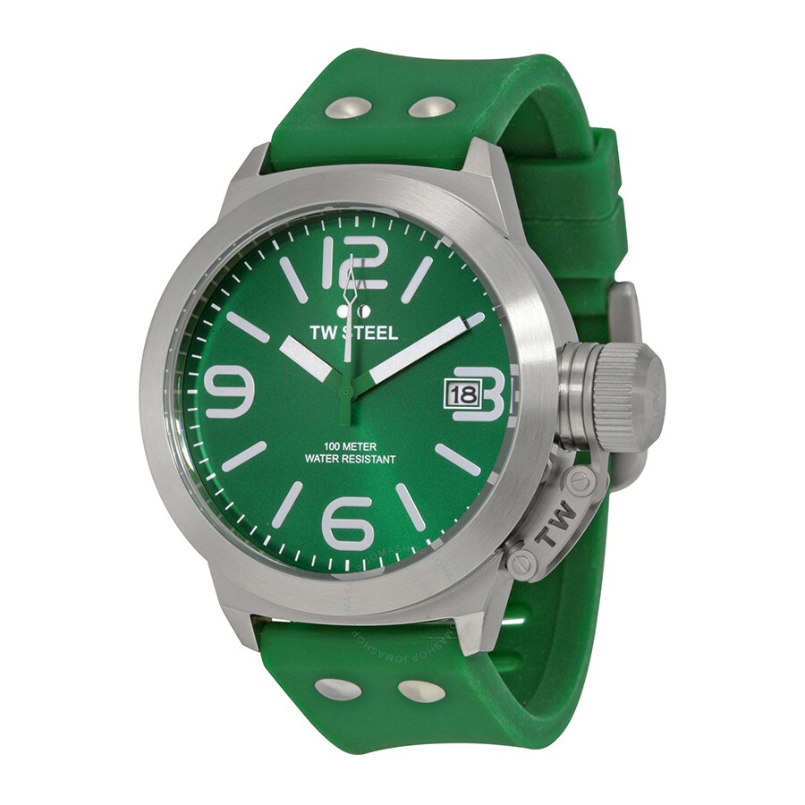 tw steel canteen watches jomashop page 2 tw steel canteen green dial green silicone men s watch