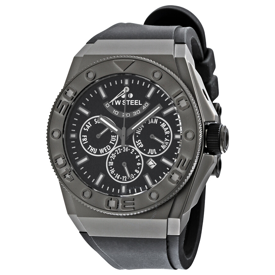 Tw steel ceo black dial black rubber men 39 s watch ce5000 ceo tw steel watches jomashop for Rubber watches