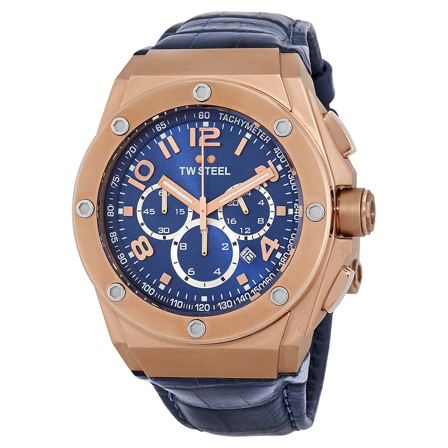 93ba18822b9 TW Steel CEO Tech Chronograph Blue Dial Rose Gold PVD Men s Watch CE4003 ...