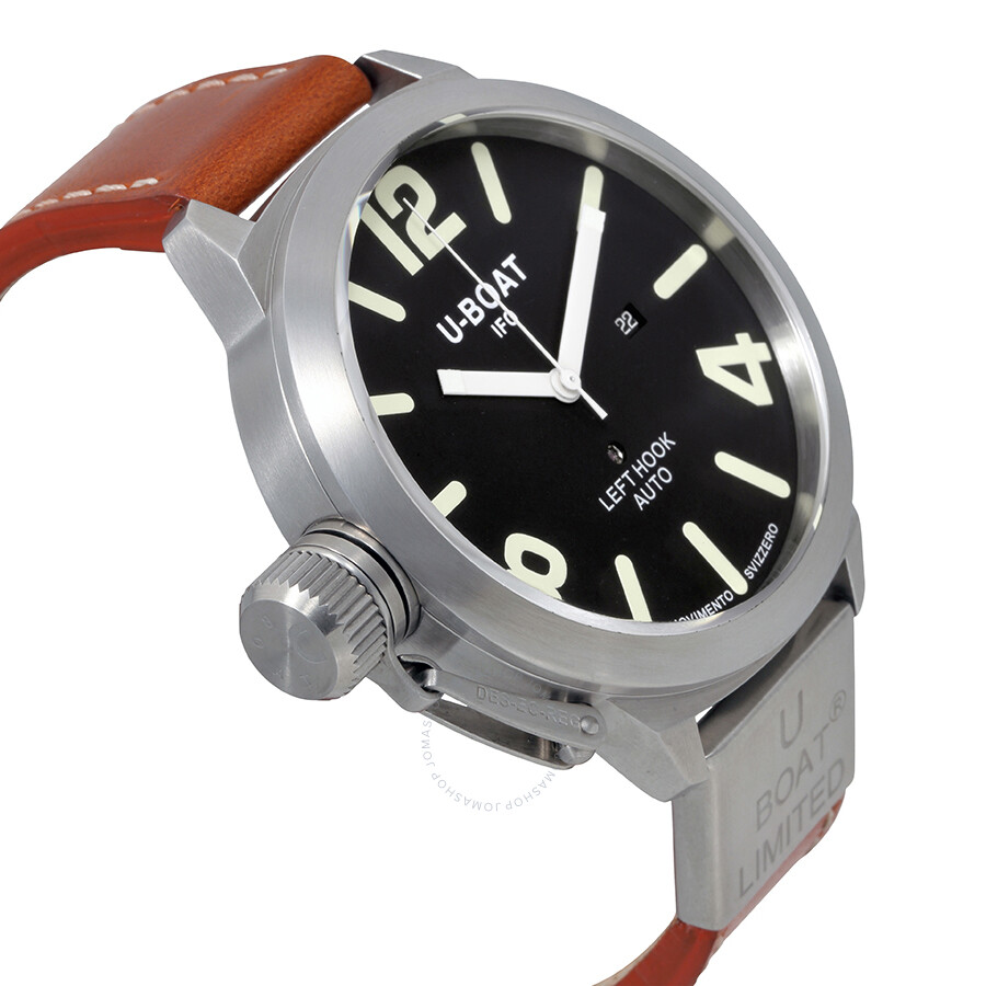 ... U-Boat Classico 53 Automatic Black Dial Men's Watch 1017 ...