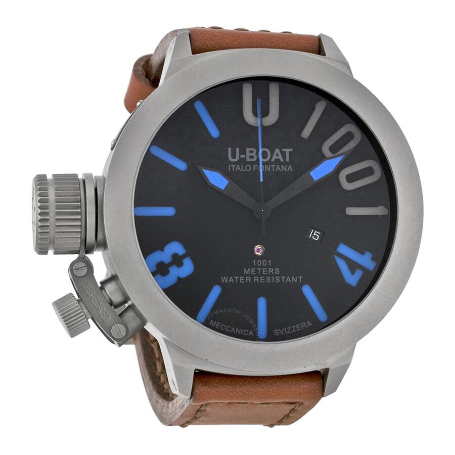 U-Boat Classico 55 U-1001 Automatic Black Dial Men's Watch ...