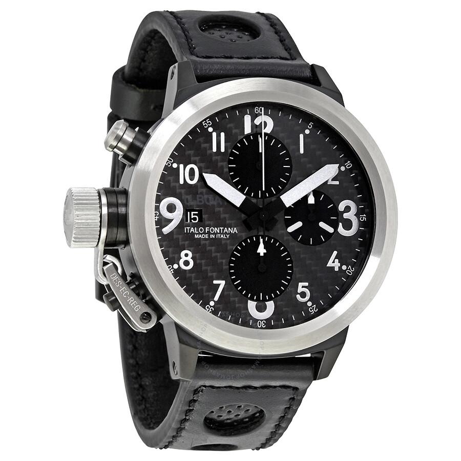 U Boat Flightdeck Black Chronograph Dial Automatic Men s Watch 1840 ... ec6e1b34e