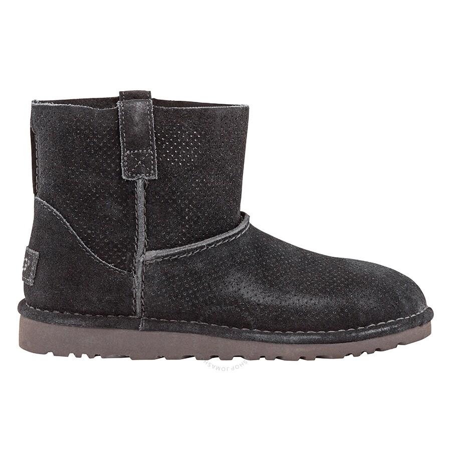 201960812e2 UGG Classic Unlined Mini Perf Boot- Black