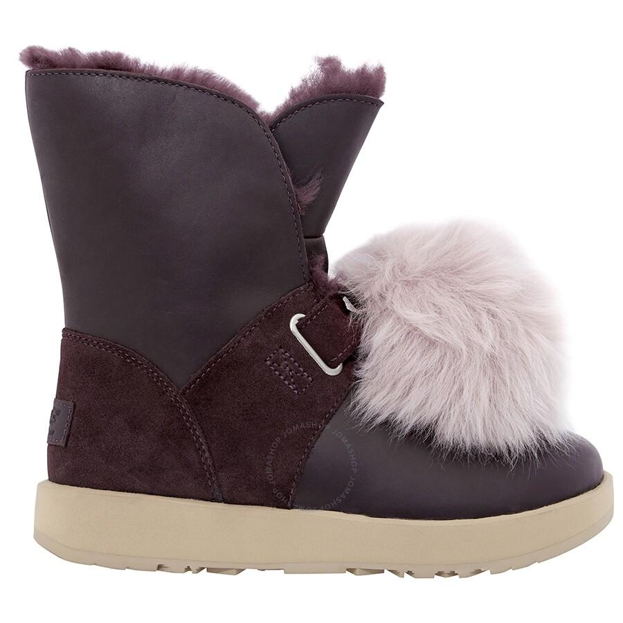 d5665cb2ab6 UGG Isley Waterproof Pom Pom Boots- Port/ Size 6