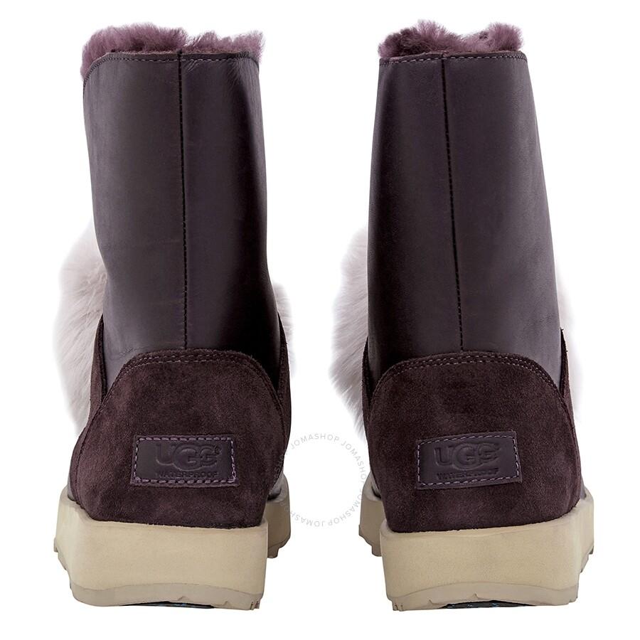 1dfd49dbb3b UGG Isley Waterproof Pom Pom Boots- Port/ Size 6