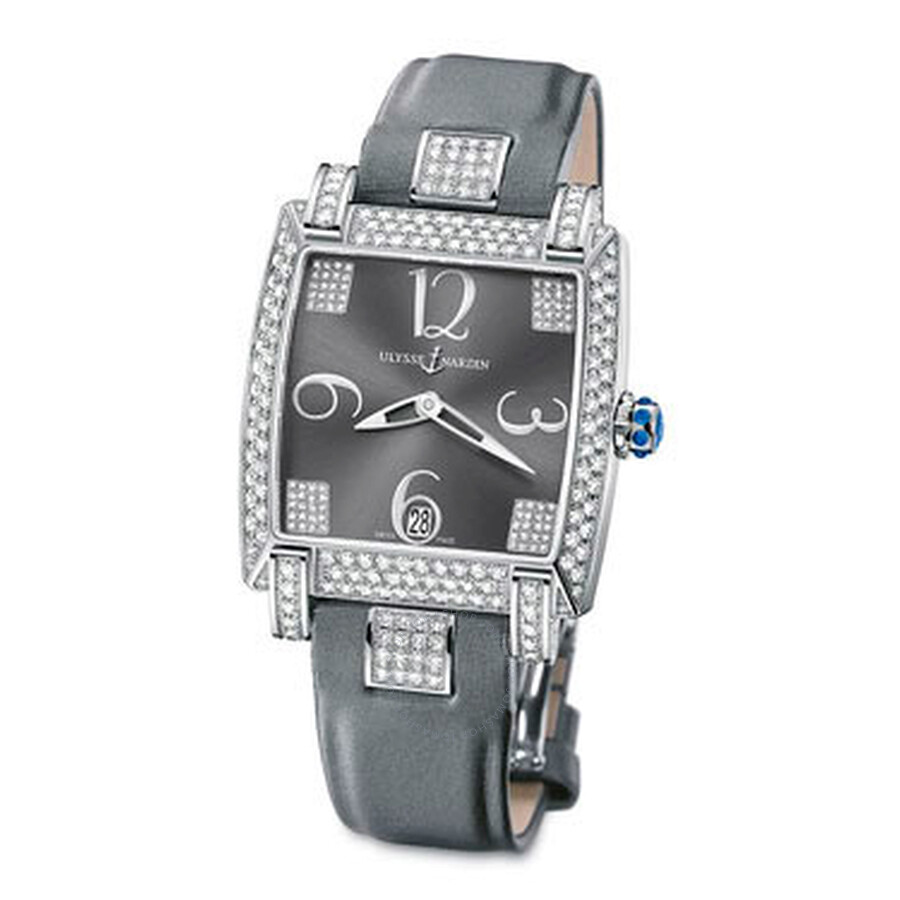 Caprice Anthracite Grey Dial Satin Strap Automatic Ladies Watch 130-91AC-609
