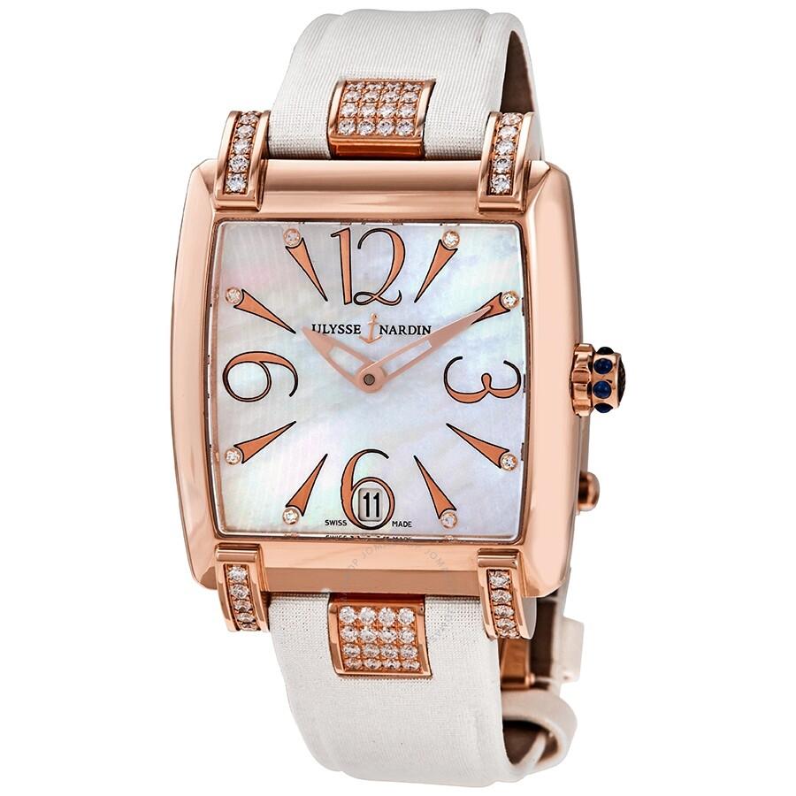 zum halben Preis gut aussehen Schuhe verkaufen Detaillierung Ulysse Nardin Caprice Automatic Diamond White Mother of Pearl Dial Ladies  Watch 136-91C/691