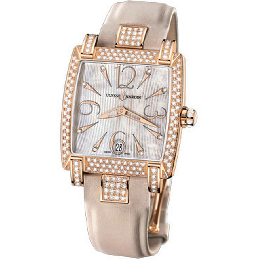 Caprice Honey Mother of Pearl Satin Straps Automatic Ladies Watch 136-91AC-695