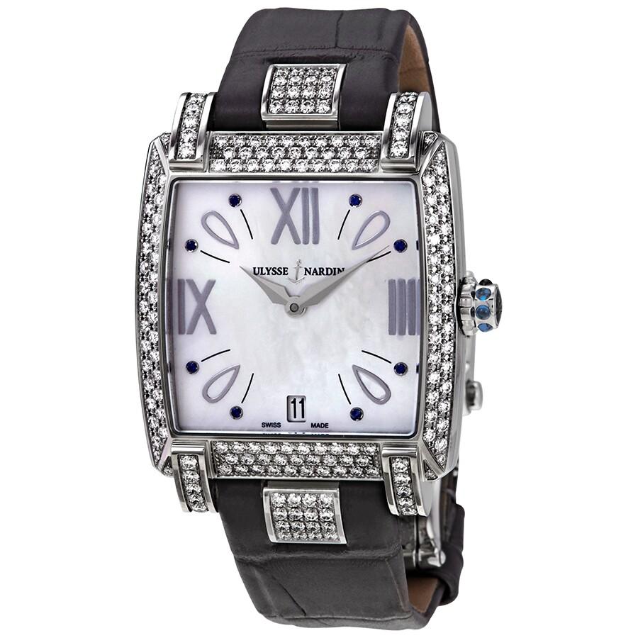 Verkauf Einzelhändler Online kaufen outlet Ulysse Nardin Caprice Silver Dial Automatic Ladies Black Crocodile Leather  Watch 133-91AC/491