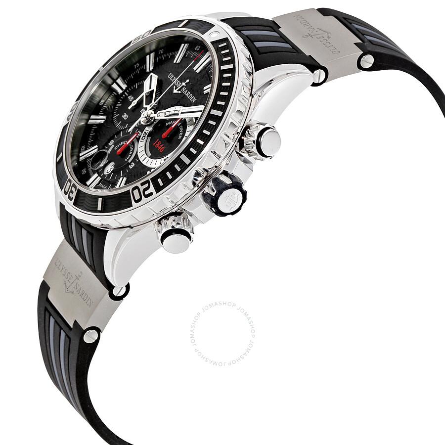 ulysse nardin diver chronograph automatic men 39 s watch 1503 151 3 92 diver ulysse nardin. Black Bedroom Furniture Sets. Home Design Ideas
