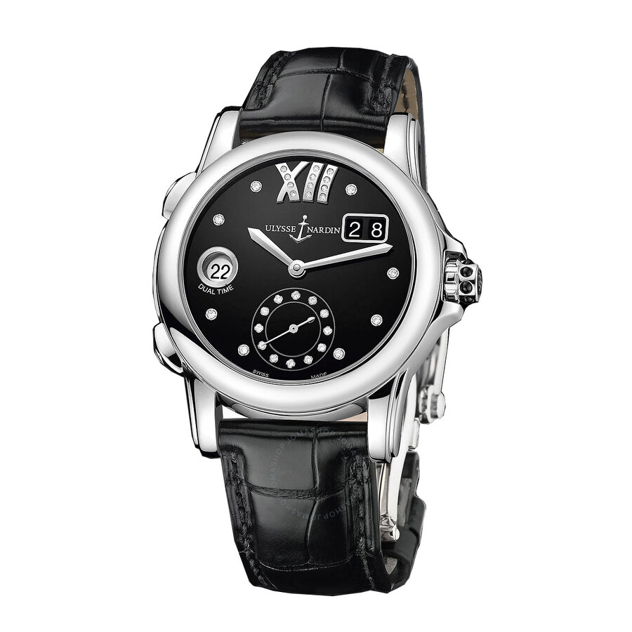 Ulysse Nardin Dual Time Black Dial Diamond Automatic ...