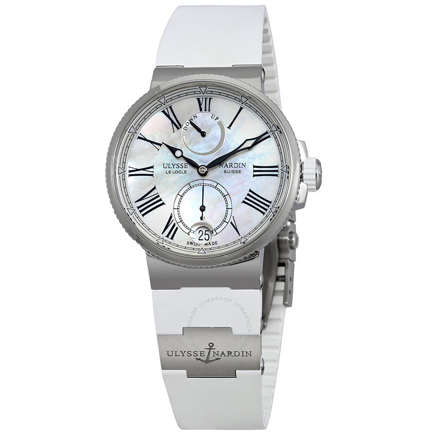Ulysse Nardin Marine Chronometer Automatic Ladies Watch 1183-160-3/40 ...