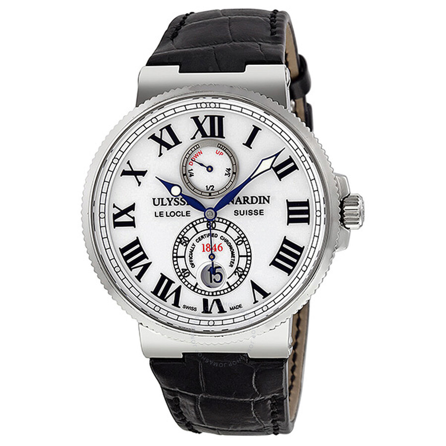48f629fc70d44 Ulysse Nardin Maxi Marine Automatic White Dial Stainless Steel Men s Watch  263-67-40 Item No. 263-67 40