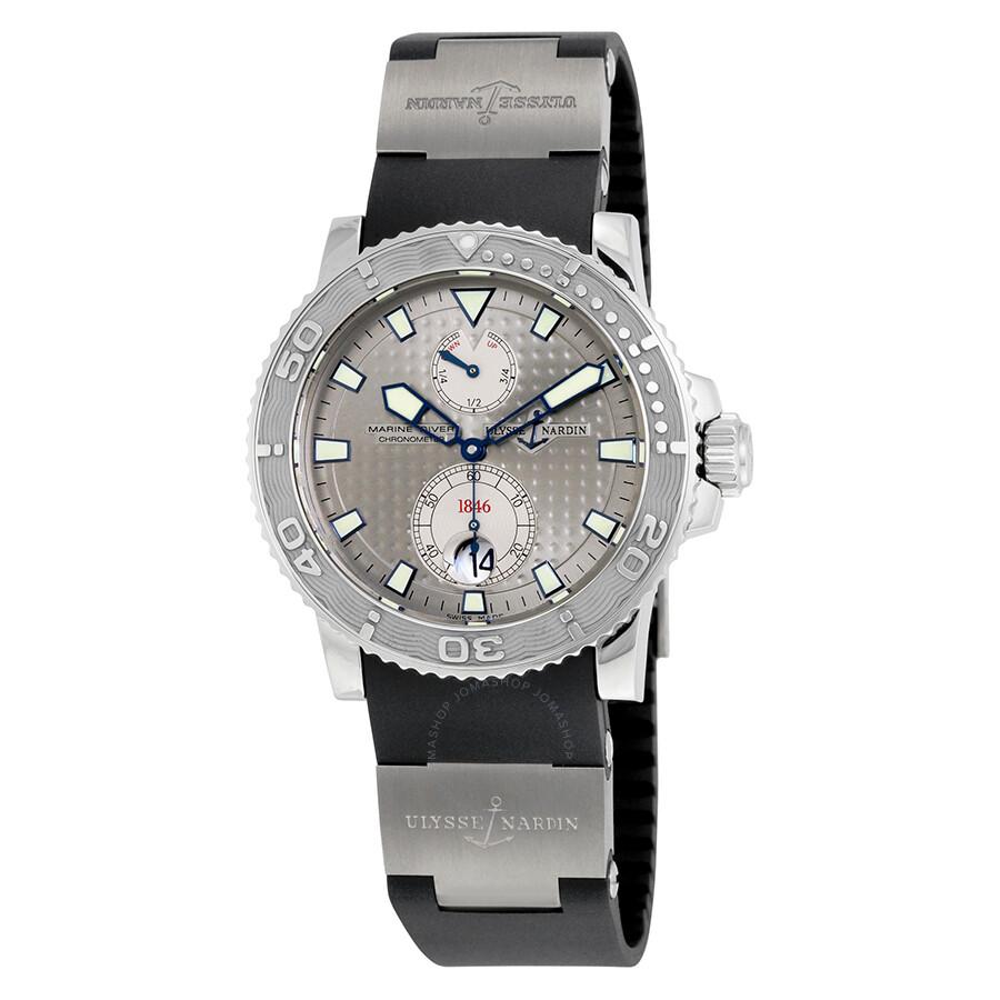 7242fae77128 Ulysse Nardin Maxi Marine Chronometer Men s Watch 263-33-3-91 - Maxi ...