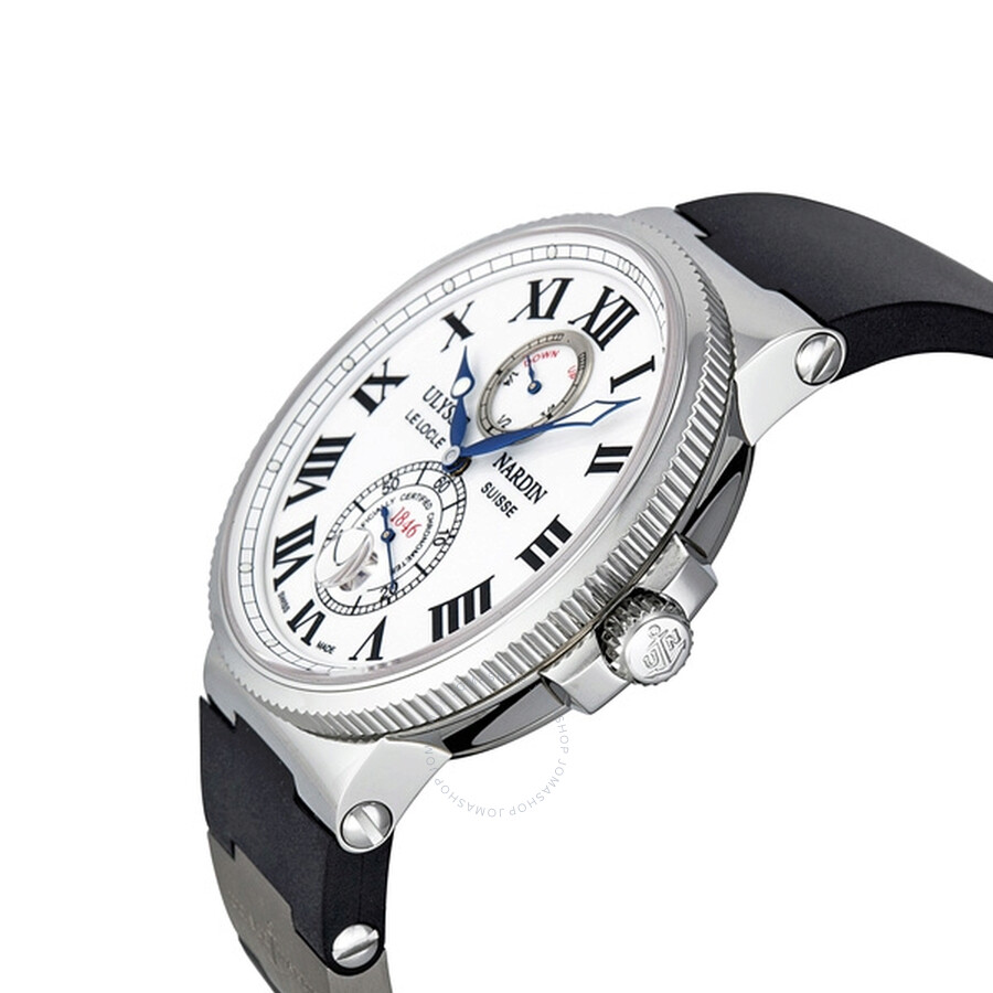 18289c13fee21 ... Ulysse Nardin Maxi Marine Chronometer White Dial Men s Watch 263-67-3-40  ...
