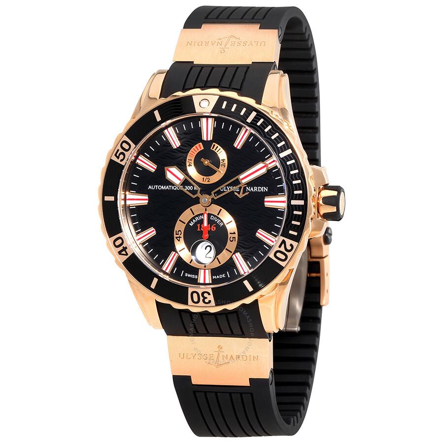 Ulysse Nardin Maxi Marine Diver Black Dial With Wave ...