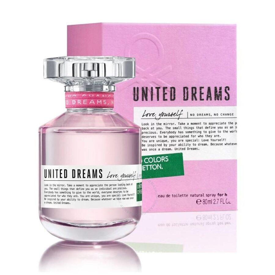 United Dreams Love Yourself / Benetton EDT Spray 2 7 oz (80 ml) (w)