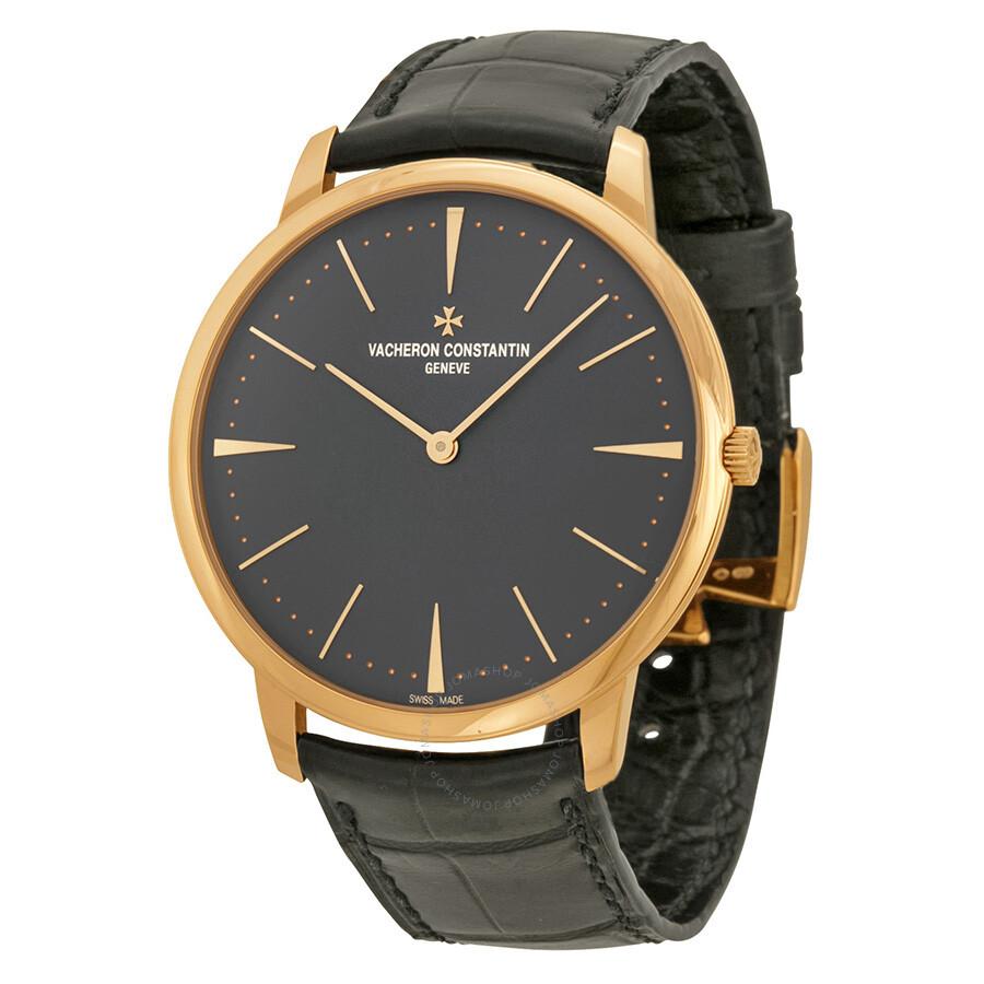 Vacheron constantin patrimony grey dial 18k pink gold manual men 39 s watch 81180000r 9162 for Vacheron constantin