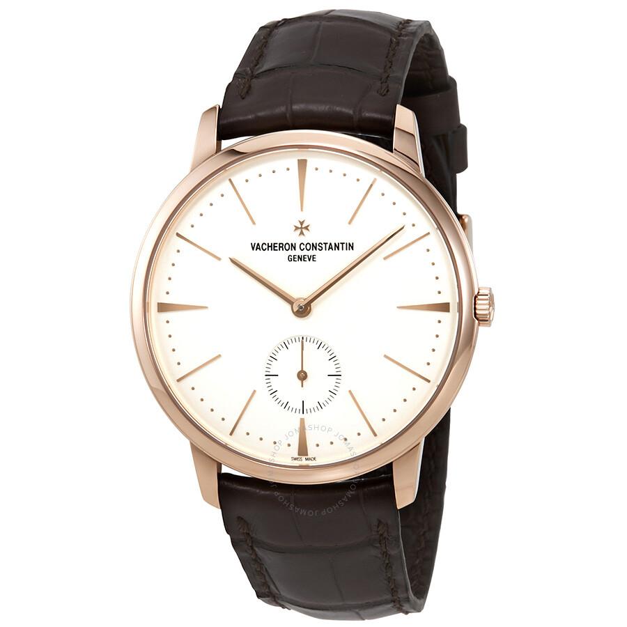 373b9945012 Vacheron Constantin Silver Dial 18kt Rose Gold Men s Watch 1110U 000R-B085  ...