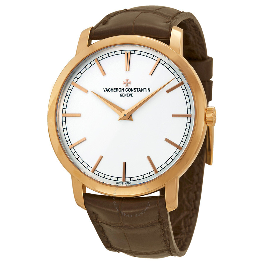 Vacheron constantin traditionnelle automatic silver dial brown leather men 39 s watch 43075000r for Vacheron constantin
