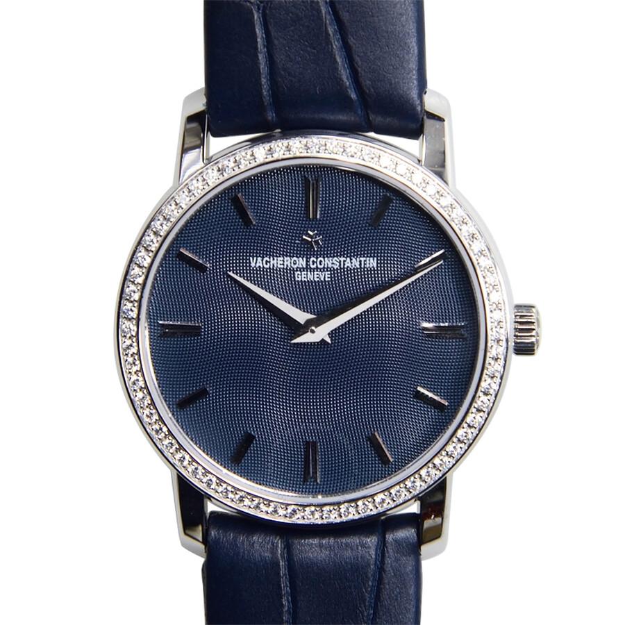 899327d58cd Vacheron Constantin Traditionnelle Blue Dial Diamond Ladies Watch Item No.  25558 000G-9758