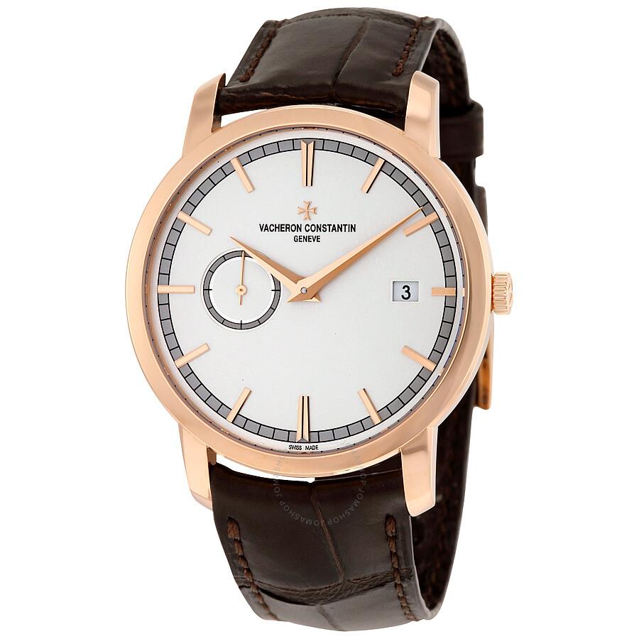 604819125ab Vacheron Constantin Traditionnelle Silver Dial Men s Leather Watch  87172 000R-9302 ...