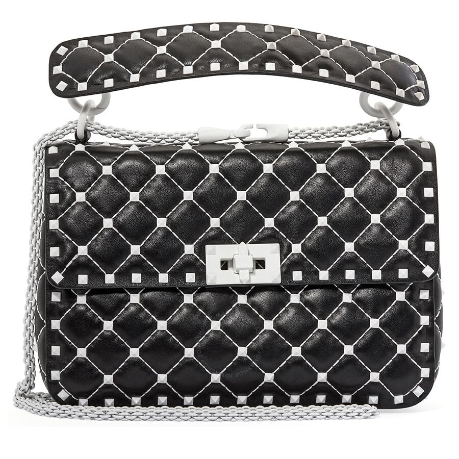 72954ff7a01 Valentino Free Rockstud Spike Medium Shoulder Bag- Black Item No.  PW2B0122RVH-0NO