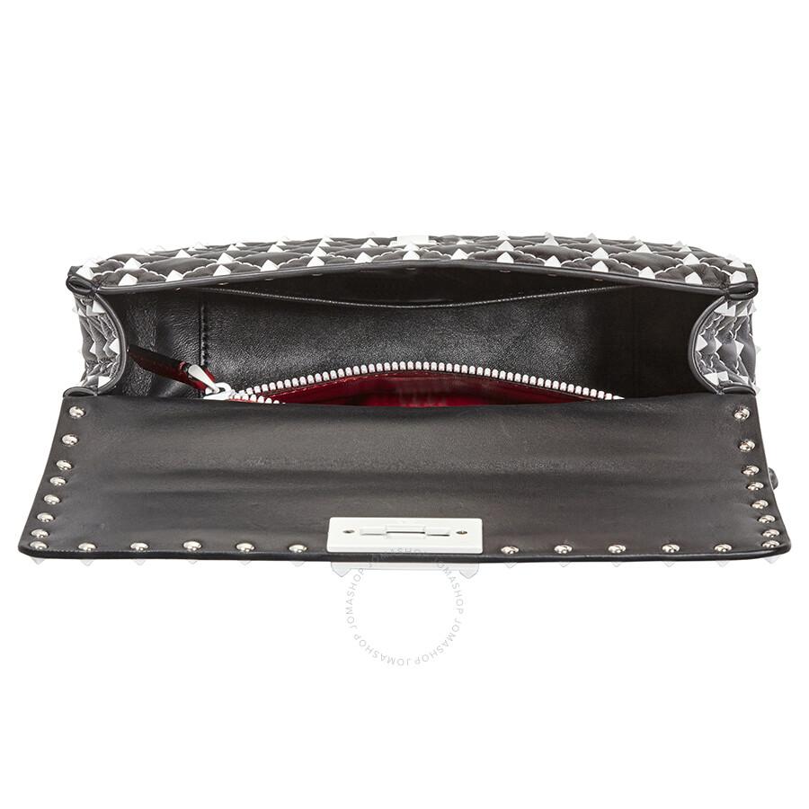 6a814487987f Valentino Free Rockstud Spike Medium Shoulder Bag- Black Item No.  PW2B0122RVH-0NO