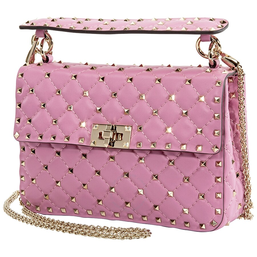e31df873059 Valentino Medium Rockstud Spike Shoulder Bag-Pink - Valentino ...