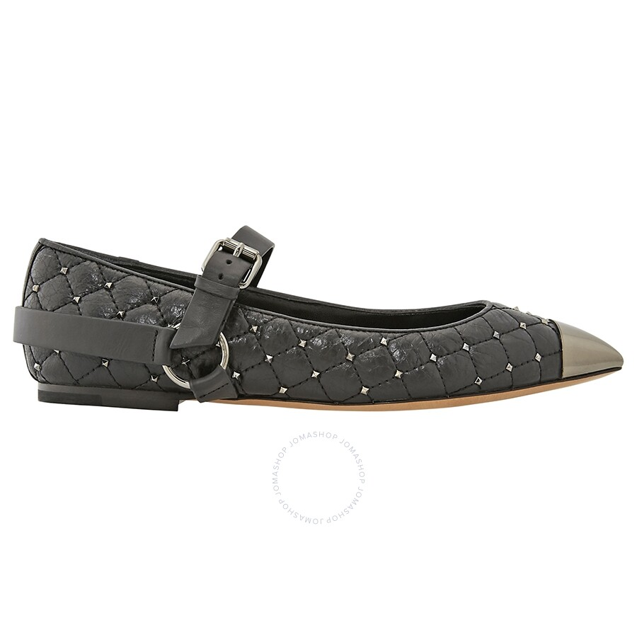 100% top quality discount shop special section Valentino Pointy-Toe Studded Ballet Flats in Black - Shoes - Jomashop