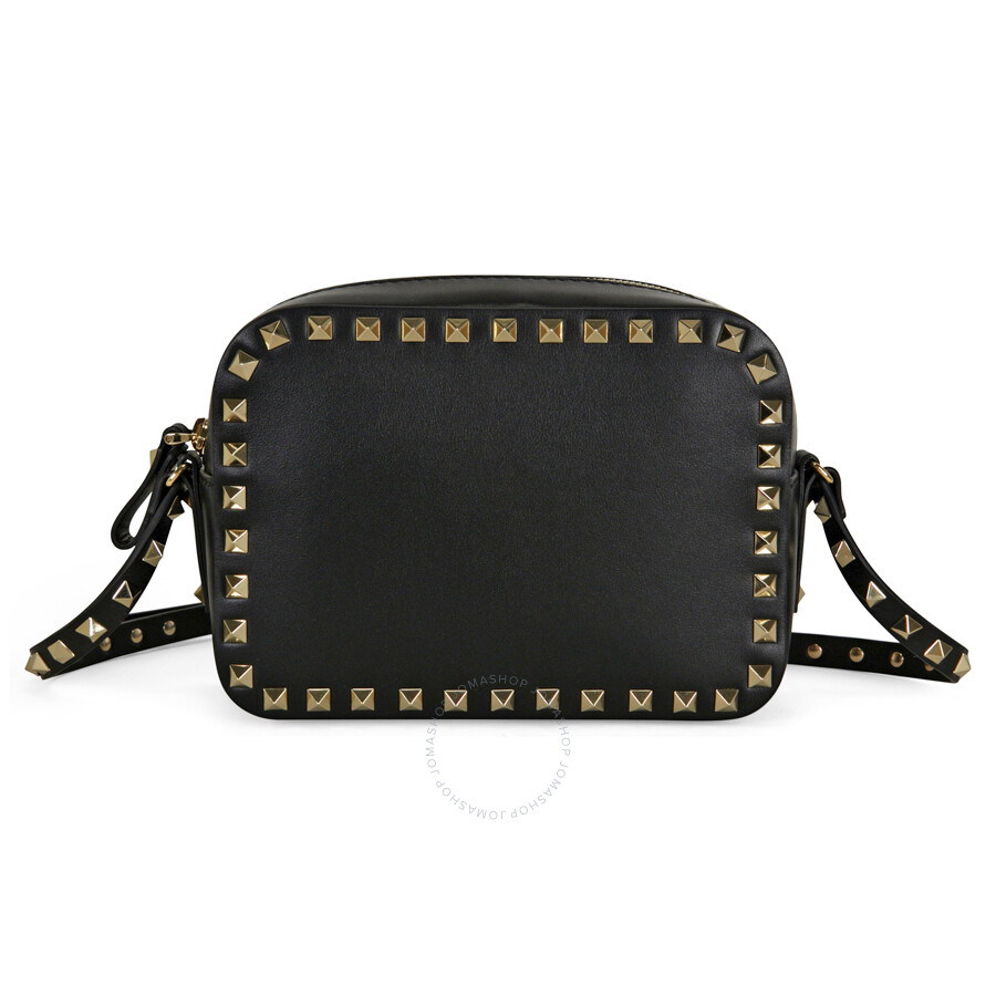 ... Valentino / Valentino Rockstud Alce Smooth Leather Camera Bag - Black