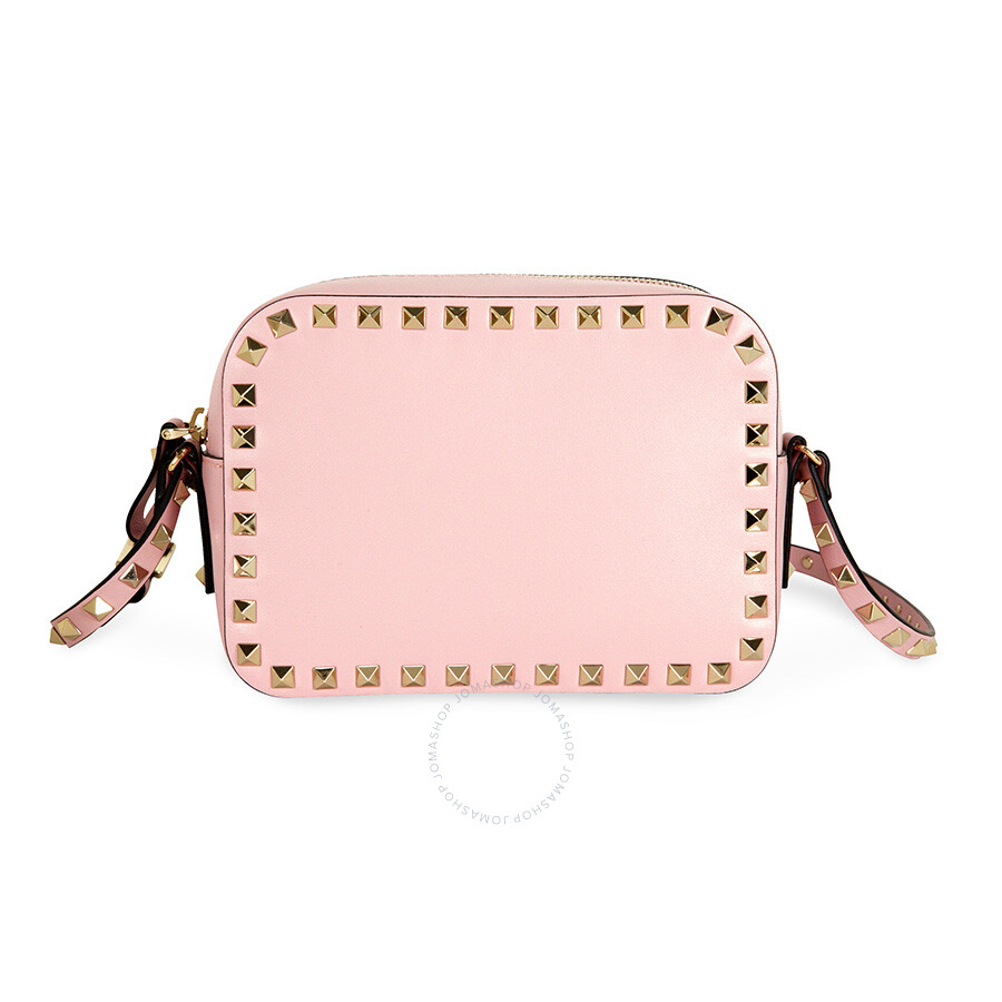 ... / Valentino / Valentino Rockstud Alce Leather Camera Bag - Pink