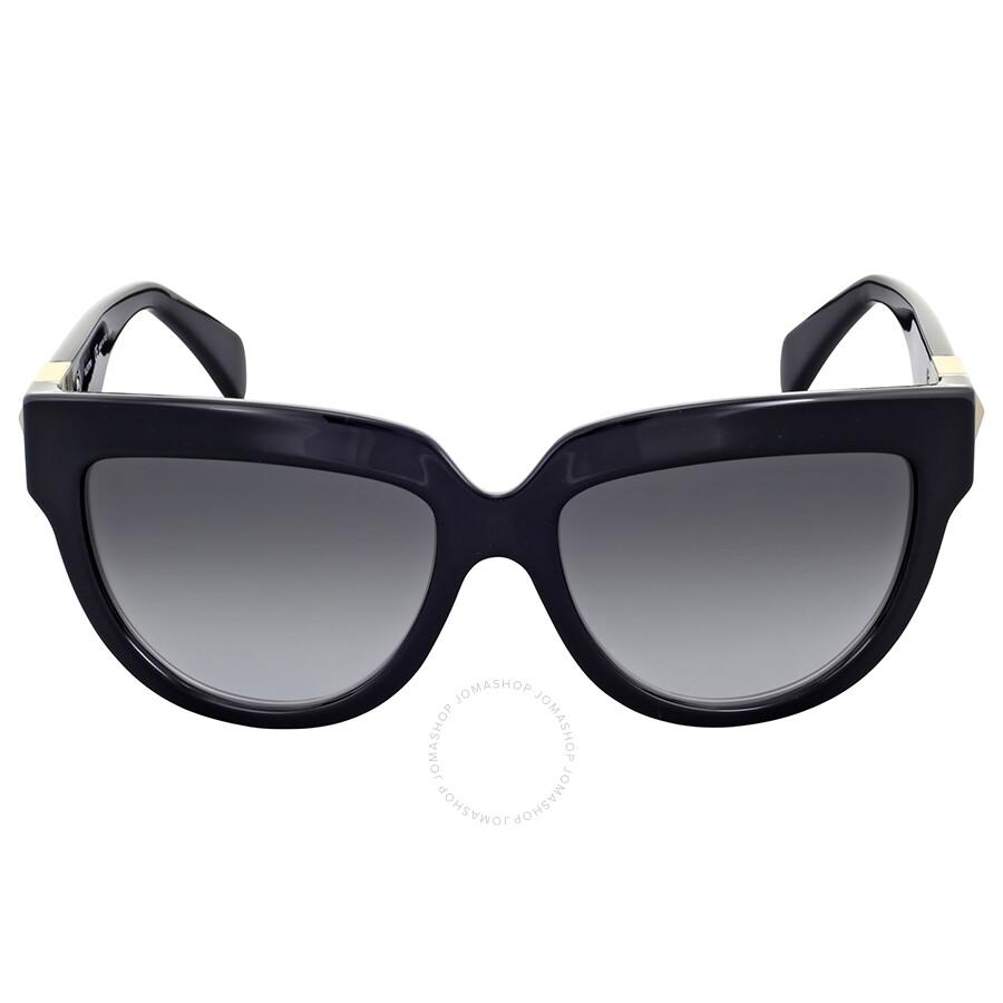 3a9decb60df2 Valentino Rockstud Black Cat Eye Sunglasses - Valentino - Sunglasses ...
