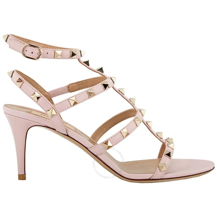 88c38c18b3df Valentino Rockstud Cage Sandal- Pale Pink Size 37.5 Item No.  S0B12VOD-PK-37.5