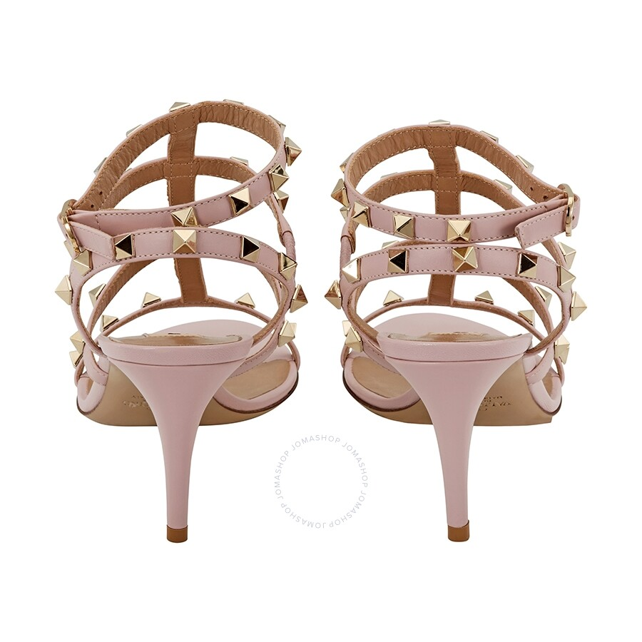 67844a841608 Valentino Rockstud Cage Sandal- Pale Pink Size 37.5 - Shoes ...