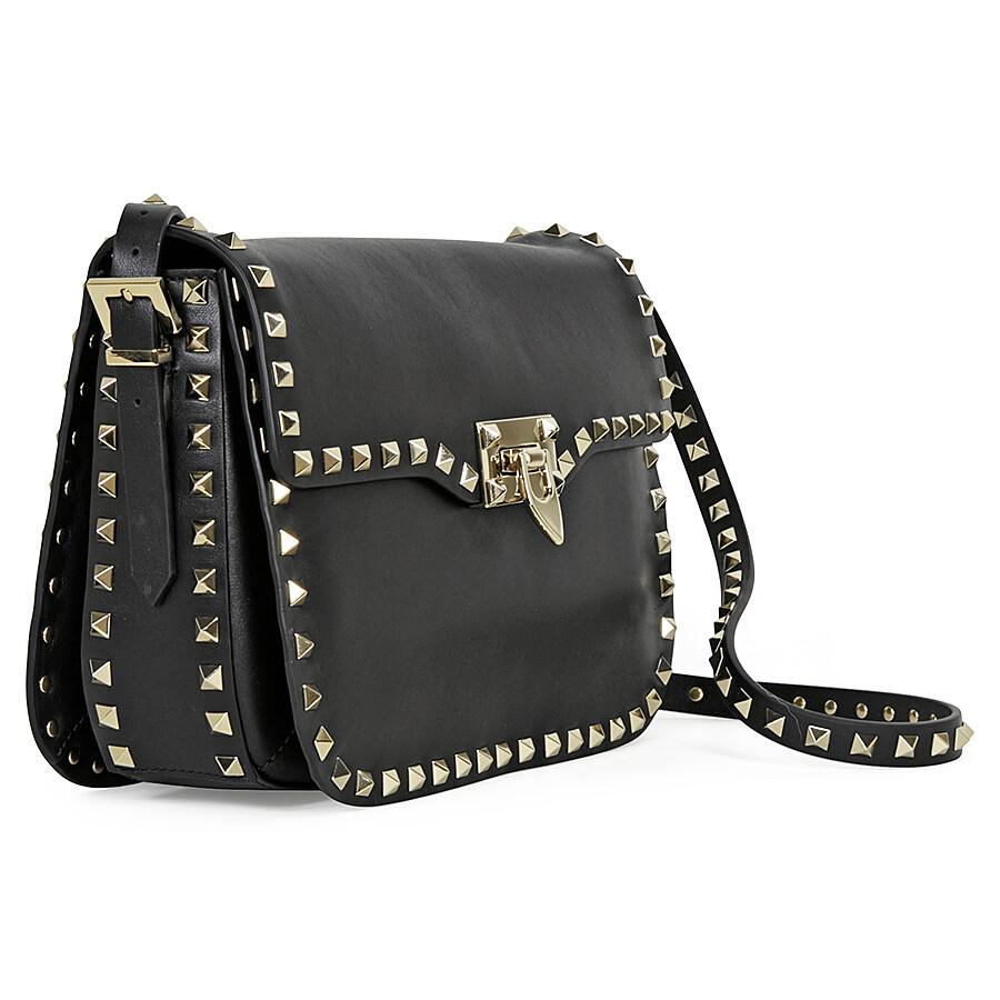 Valentino Rockstud Cross Body Bag Black