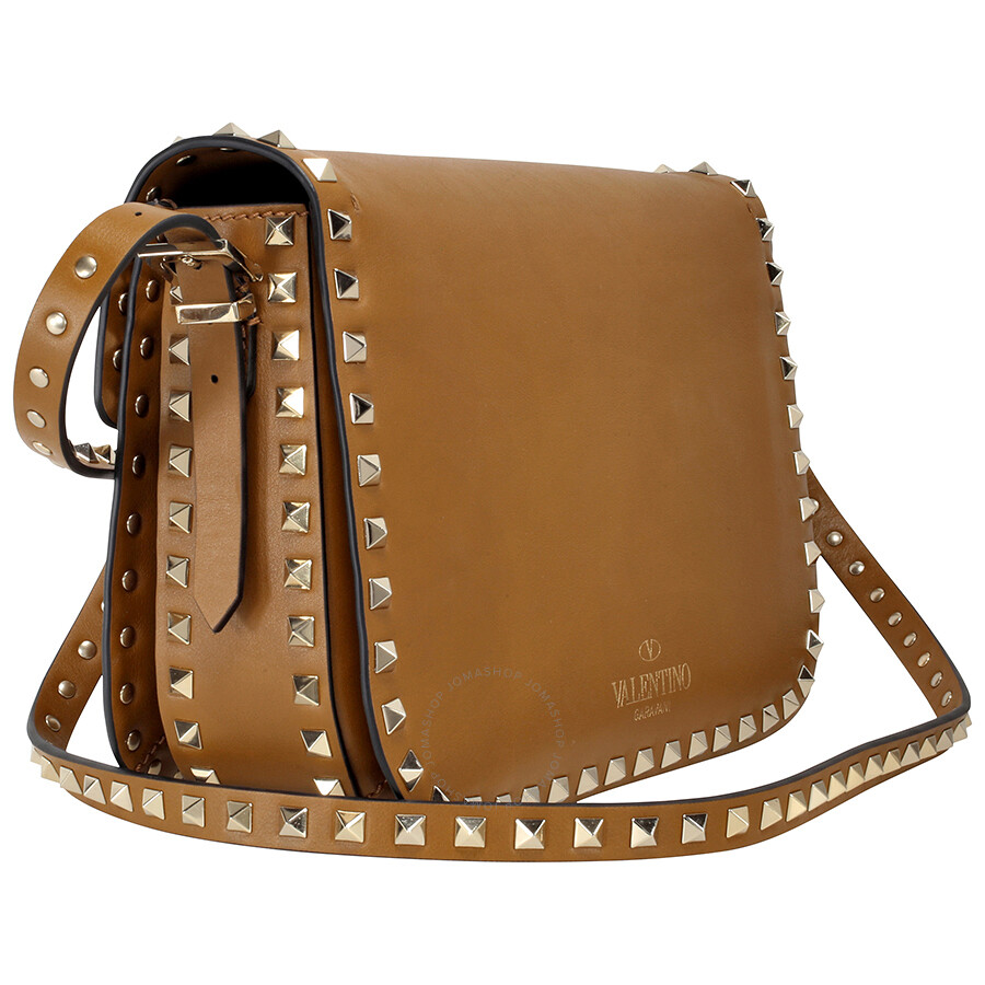 7b98c3ddb1 Valentino Rockstud Cross Body Bag - Brown - Valentino - Handbags ...