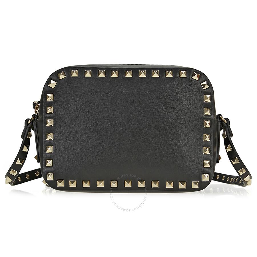 e70e8678a Valentino Rockstud Crossbody Bag - Black - Valentino - Handbags ...