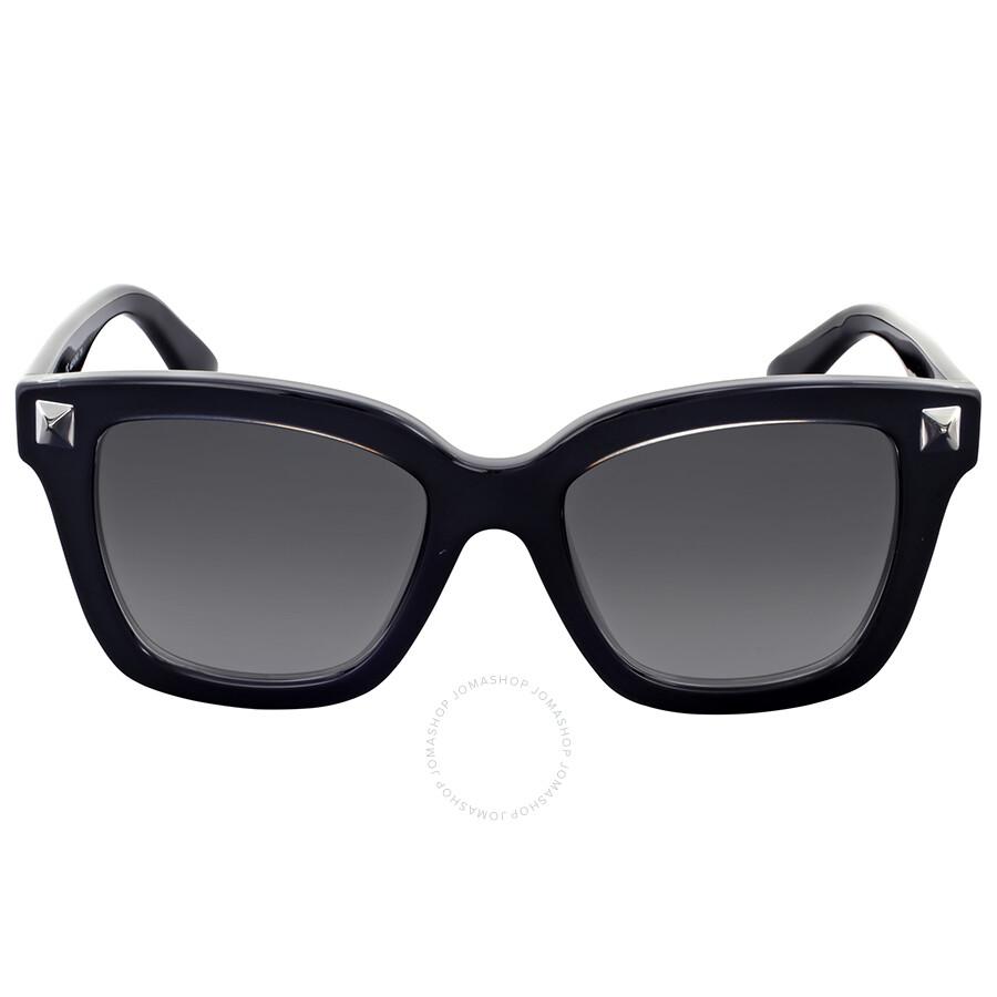ac78e8ae9c25a Valentino Rockstud Grey Gradient Square Sunglasses Item No. V699S 001