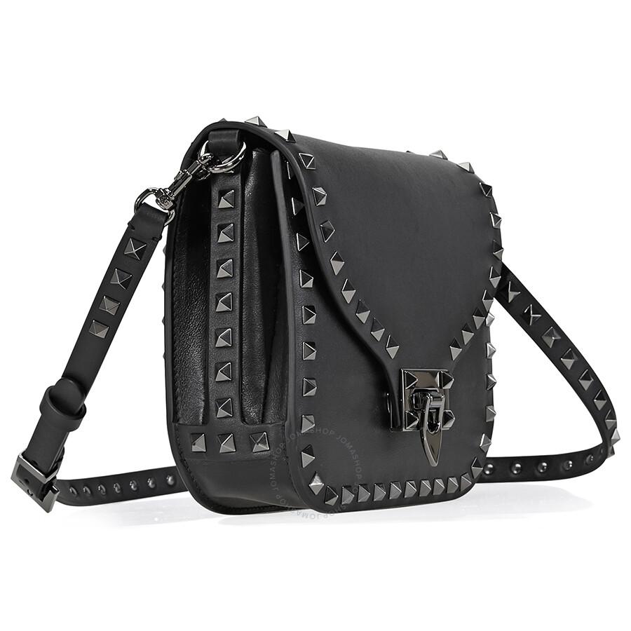 f3e1c9d84dd6 Valentino Rockstud Leather Black Crossbody - Valentino - Handbags ...